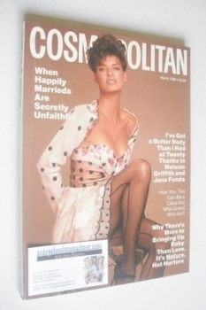 USA Cosmopolitan magazine (March 1990 - Linda Evangelista cover)