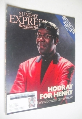 <!--1989-07-23-->Sunday Express magazine - 23 July 1989 - Lenny Henry cover