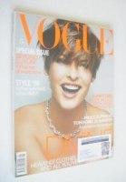 <!--1999-01-->British Vogue magazine - January 1999 - Linda Evangelista cover