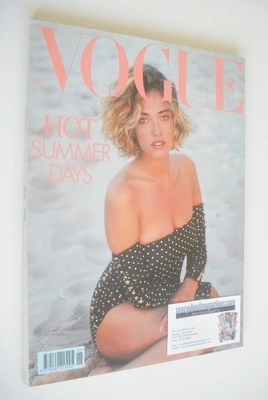 <!--1989-05-->British Vogue magazine - May 1989 - Tatjana Patitz cover