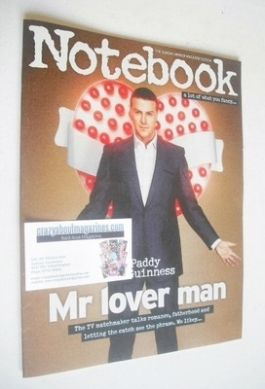 <!--2014-01-12-->Notebook magazine - Paddy McGuinness cover (12 January 201