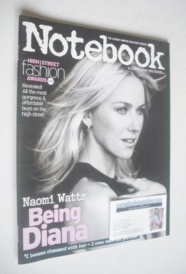 <!--2013-09-15-->Notebook magazine - Naomi Watts cover (15 September 2013)