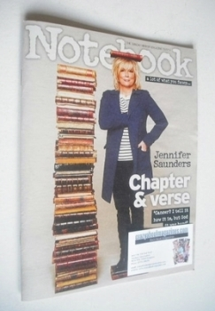 Notebook magazine - Jennifer Saunders cover (3 November 2013)