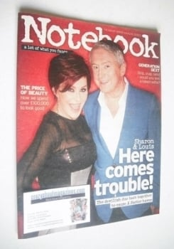 Notebook magazine - Sharon Osbourne and Louis Walsh cover (25 August 2013)