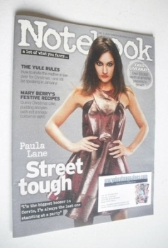 Notebook magazine - Paula Lane cover (8 December 2013)