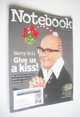 <!--2013-12-15-->Notebook magazine - Harry Hill cover (15 December 2013)