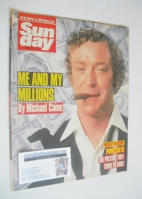 <!--1987-08-16-->Sunday magazine - 16 August 1987 - Michael Caine cover