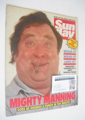 <!--1984-11-18-->Sunday magazine - 18 November 1984 - Bernard Manning cover