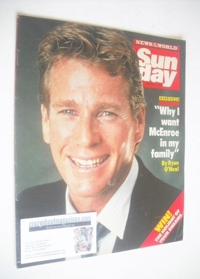 <!--1986-03-02-->Sunday magazine - 2 March 1986 - Ryan O'Neal cover