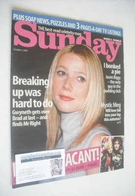 <!--2001-10-07-->Sunday magazine - 7 October 2001 - Gwyneth Paltrow cover