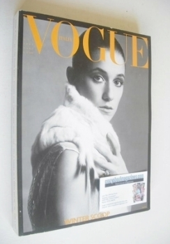 Vogue Italia magazine - October 2000 - Charlotte Gainsbourg cover