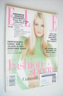 <!--1996-02-->British Elle magazine - February 1996 - Karen Mulder cover