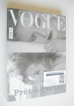 Vogue Italia magazine - March 2002 - Ann-Catherine Lacroix cover