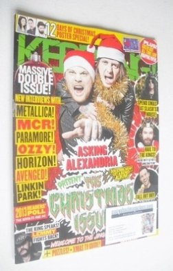 <!--2013-12-21-->Kerrang magazine - Asking Alexandria cover (21 December 20