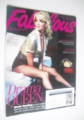 <!--2009-11-22-->Fabulous magazine - Sarah Harding cover (22 November 2009)