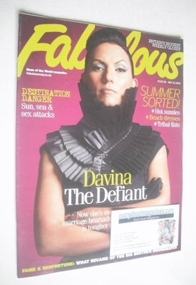 <!--2009-05-31-->Fabulous magazine - Davina McCall cover (31 May 2009)
