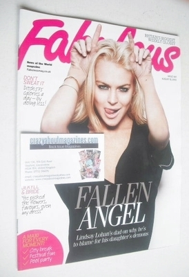 <!--2010-08-08-->Fabulous magazine - Lindsay Lohan cover (8 August 2010)