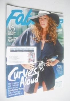 Fabulous magazine - Kimberley Walsh cover (13 June 2010)