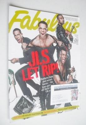 <!--2010-07-04-->Fabulous magazine - JLS cover (4 July 2010)