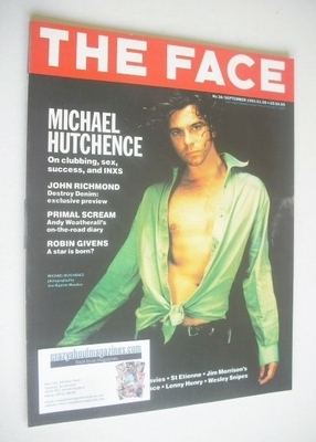 <!--1991-09-->The Face magazine - Michael Hutchence cover (September 1991 -