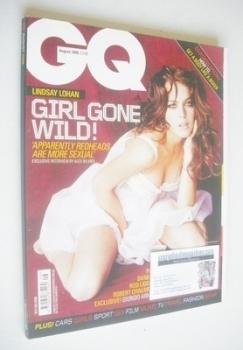 British GQ magazine - August 2006 - Lindsay Lohan cover