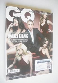 British GQ magazine - November 2008 - Daniel Craig cover