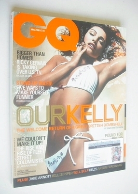 <!--2006-05-->British GQ magazine - May 2006 - Kelly Brook cover