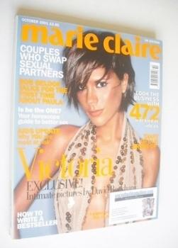 British Marie Claire magazine - October 2001 - Victoria Beckham cover