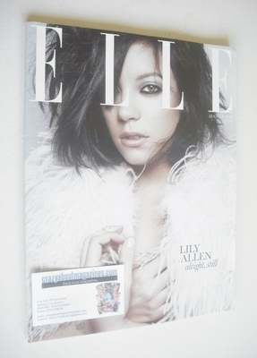 <!--2010-08-->British Elle magazine - August 2010 - Lily Allen cover (Subsc