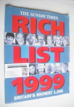 The Sunday Times Rich List 1999 magazine