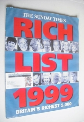 <!--1999-12-->The Sunday Times Rich List 1999 magazine