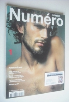 Numero Homme magazine - Spring/Summer 2001 - Bill Gentle cover