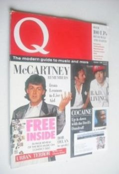 Q magazine - Paul McCartney cover (October 1986 - 1st Issue)