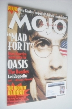 MOJO magazine - Liam Gallagher cover (May 1996 - Issue 30)