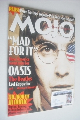 <!--1996-05-->MOJO magazine - Liam Gallagher cover (May 1996 - Issue 30)