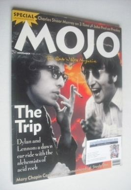 <!--1993-11-->MOJO magazine - Bob Dylan and John Lennon cover (November 199