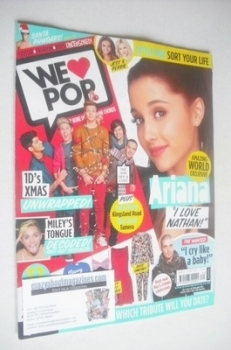 We Love Pop magazine - Ariana Grande cover (20 November - 17 December 2013)