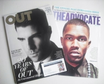 Out magazine - Zachary Quinto cover (October 2012)
