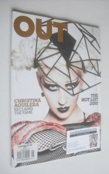 Out magazine - Christina Aguilera cover (June/July 2010)