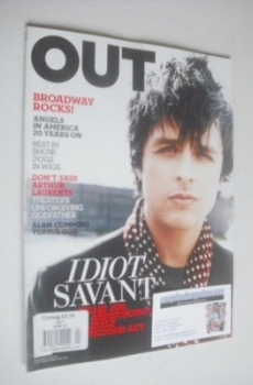 Out magazine - Billie Joe Armstrong cover (April 2010)