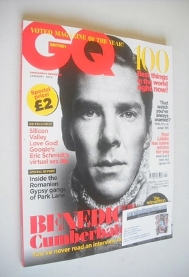 <!--2014-01-->British GQ magazine - January 2014 - Benedict Cumberbatch cov