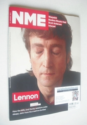 <!--2014-01-25-->NME magazine - John Lennon cover (25 January 2014)