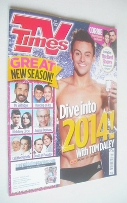 <!--2014-01-04-->TV Times magazine - Tom Daley cover (4-10 January 2014)