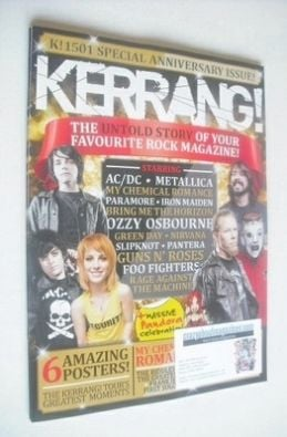 <!--2014-01-25-->Kerrang magazine - Special Anniversary Issue cover (25 Jan