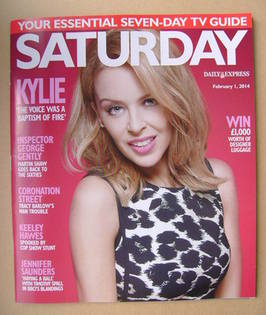 <!--2014-02-01-->Saturday magazine - Kylie Minogue cover (1 February 2014)