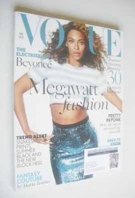 <!--2013-05-->British Vogue magazine - May 2013 - Beyonce Knowles cover