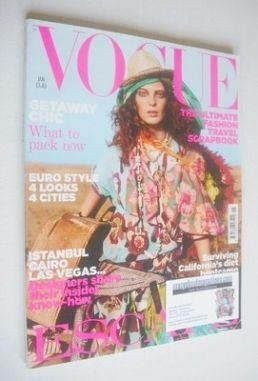 <!--2005-01-->British Vogue magazine - January 2005 - Daria Werbowy cover