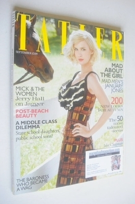 <!--2010-09-->Tatler magazine - September 2010 - January Jones cover
