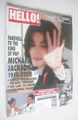 <!--2009-07-06-->Hello! magazine - Michael Jackson cover (6 July 2009 - Iss