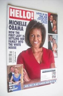 <!--2009-03-10-->Hello! magazine - Michelle Obama cover (10 March 2009 - Is